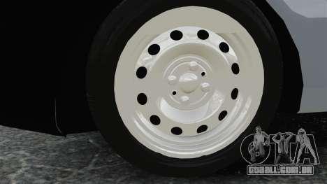 Fiat Palio EDX 1997 para GTA 4 vista de volta