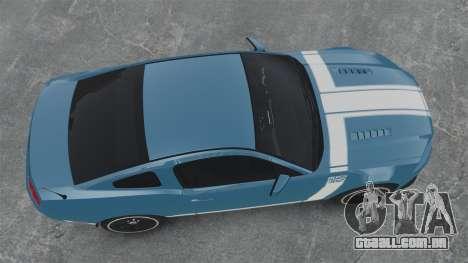 Ford Mustang BOSS 2013 para GTA 4 vista direita