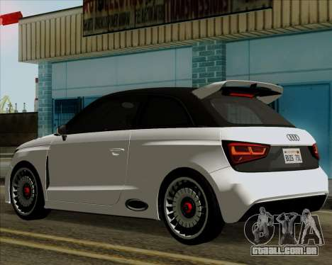 Audi A1 Clubsport Quattro para GTA San Andreas traseira esquerda vista