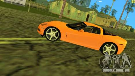 Chevrolet Corvette C6 para GTA Vice City vista lateral