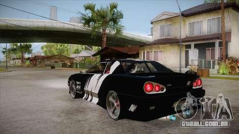 Elegy Touge Tune para GTA San Andreas traseira esquerda vista