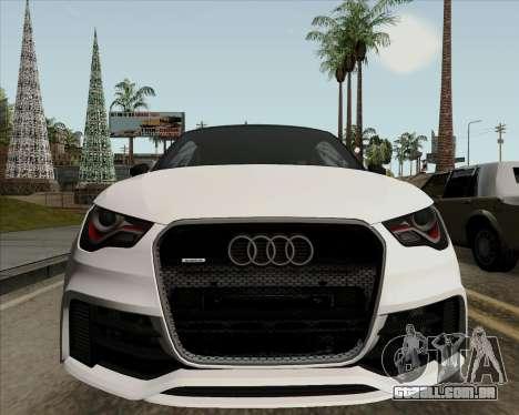 Audi A1 Clubsport Quattro para GTA San Andreas vista interior