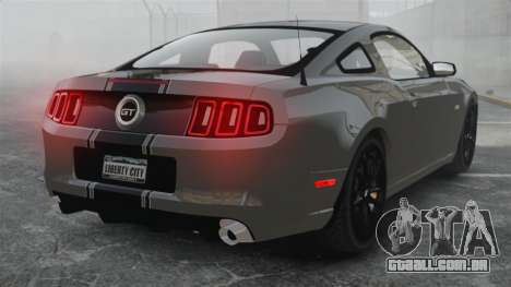 Ford Mustang GT 2013 para GTA 4 traseira esquerda vista