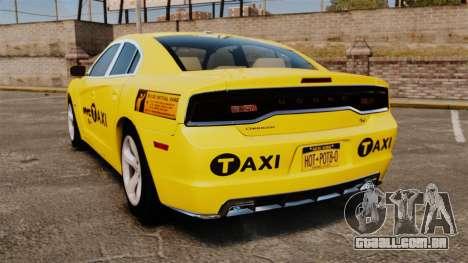 Dodge Charger 2011 Taxi para GTA 4 traseira esquerda vista