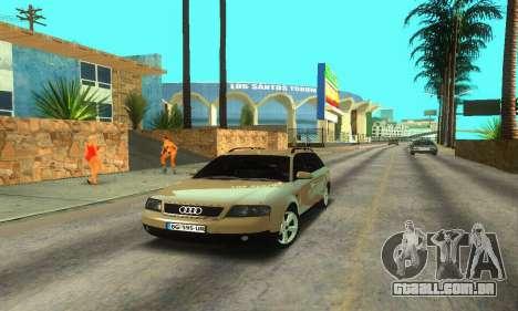 Audi A6 (C5) Avant para GTA San Andreas traseira esquerda vista