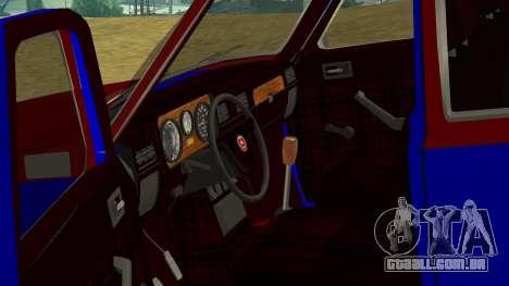 GAZ-24 Volga divertido para GTA San Andreas vista interior