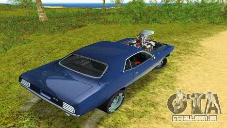 Plymouth Barracuda Supercharger para GTA Vice City vista lateral
