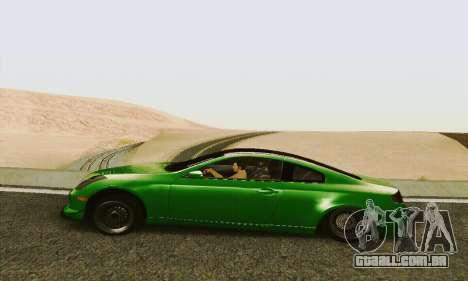 Infiniti G35 Hellaflush para GTA San Andreas esquerda vista