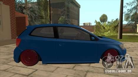 Volkswagen Polo GTi Euro Stance 2012 para GTA San Andreas traseira esquerda vista