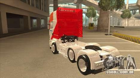 Scania R620 Nis Kamion para GTA San Andreas vista traseira