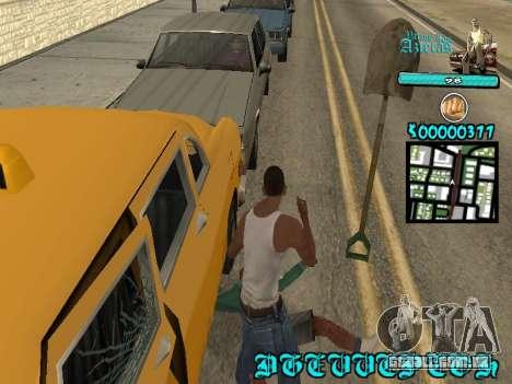 C-HUD by Kerro Diaz [ Aztecas ] para GTA San Andreas por diante tela