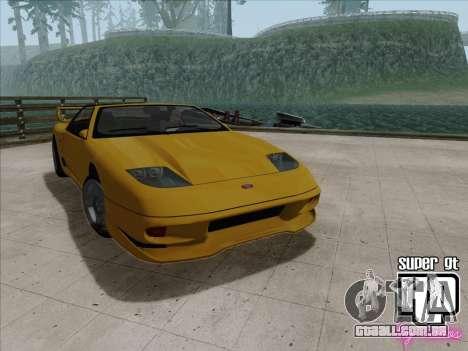 Super GT HD para GTA San Andreas vista traseira