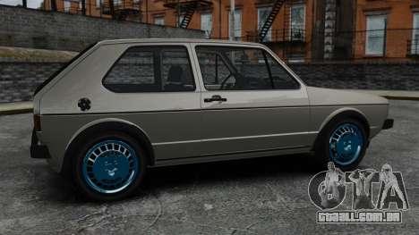 Volkswagen Golf MK1 GTI Update v2 para GTA 4 esquerda vista