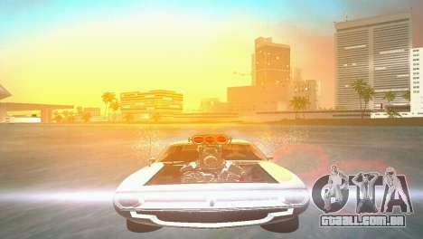 Plymouth Barracuda Supercharger para GTA Vice City vista direita
