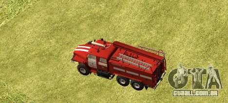 Ural 4320 bombeiro para GTA San Andreas esquerda vista