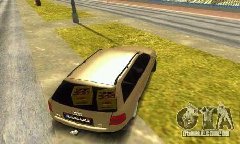 Audi A6 (C5) Avant para GTA San Andreas vista interior