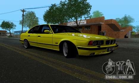 BMW M5 E34 IVLM v2.0.2 para GTA San Andreas vista traseira