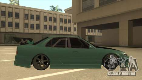 Proton Wira with s15 front end para GTA San Andreas traseira esquerda vista