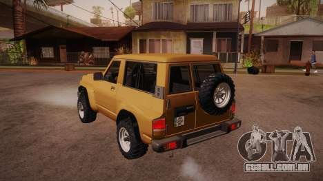 Nissan Patrol Y60 para GTA San Andreas traseira esquerda vista