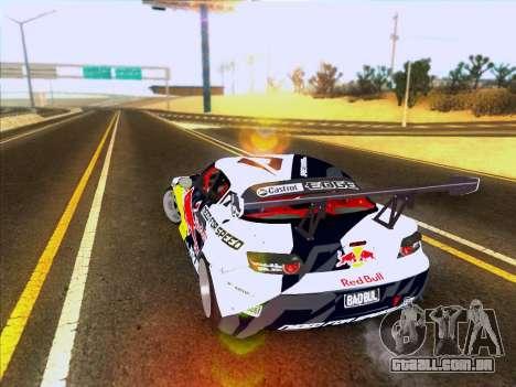 Mazda RX-8 NFS Team Mad Mike para GTA San Andreas traseira esquerda vista