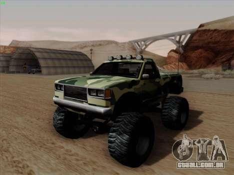 Camuflagem para monstro para GTA San Andreas traseira esquerda vista