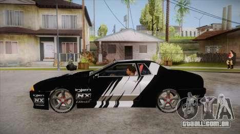 Elegy Touge Tune para GTA San Andreas esquerda vista