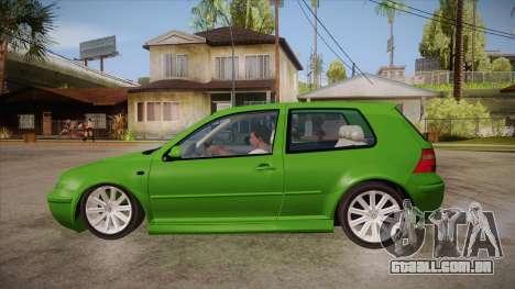 Volkswagen Golf Mk4 para GTA San Andreas esquerda vista