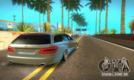 Mercedes-Benz E350 Wagon para GTA San Andreas vista traseira