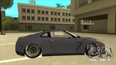 Nissan GT-R R35 Camber Killer para GTA San Andreas traseira esquerda vista