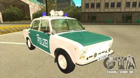 VAZ 21011 DDR police para GTA San Andreas