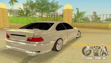 BMW M3 E46 Hamann para GTA Vice City vista interior
