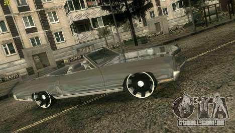 Chevy Monte Carlo para GTA Vice City vista traseira esquerda