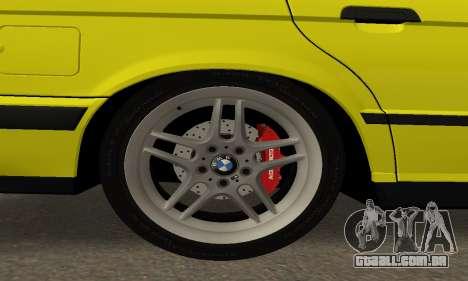 BMW M5 E34 IVLM v2.0.2 para vista lateral GTA San Andreas