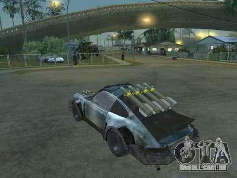 Porsche 911 Death Race para GTA San Andreas esquerda vista