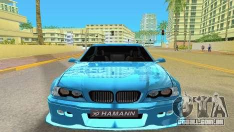 BMW M3 E46 Hamann para GTA Vice City vista traseira esquerda