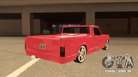 Modified Sadler para GTA San Andreas vista direita