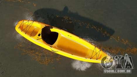 Canoagem para GTA 4 traseira esquerda vista