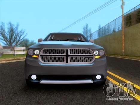 Dodge Durango Citadel 2013 para GTA San Andreas vista traseira