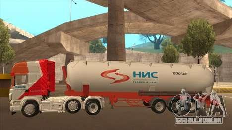 Semi-reboque para Scania R620 Nis Nis Kamion para GTA San Andreas vista interior