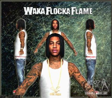 Waka Flocka Flame skin para GTA San Andreas terceira tela