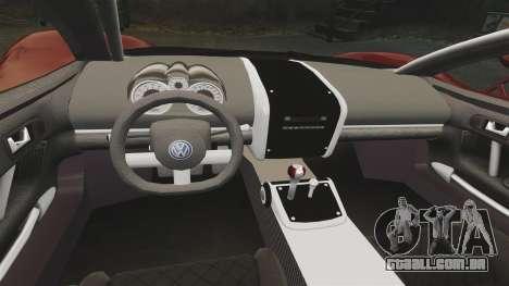 Volkswagen W12 Nardo 2001 [EPM] para GTA 4 vista interior