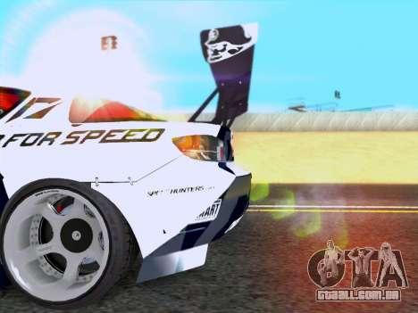 Mazda RX-8 NFS Team Mad Mike para GTA San Andreas vista direita