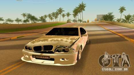 BMW M3 E46 Hamann para GTA Vice City vista lateral