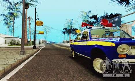 VAZ 21011 Propaganda para vista lateral GTA San Andreas