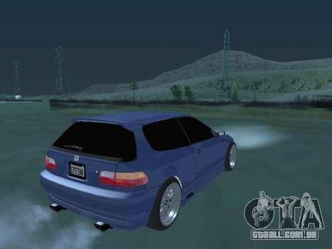 Honda Civic (EG6) 1994 para GTA San Andreas esquerda vista