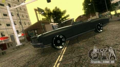 Chevy Monte Carlo para GTA Vice City vista traseira