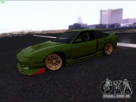 Nissan 180sx Takahiro Kiato para GTA San Andreas esquerda vista