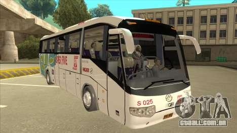 Higer KLQ6129QE - Super Five Transport S 025 para GTA San Andreas esquerda vista