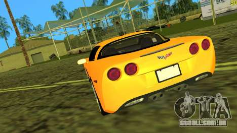 Chevrolet Corvette C6 para GTA Vice City vista traseira esquerda