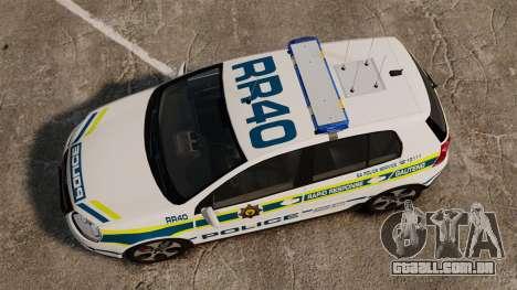 Volkswagen Golf 5 GTI Police v2.0 [ELS] para GTA 4 vista direita